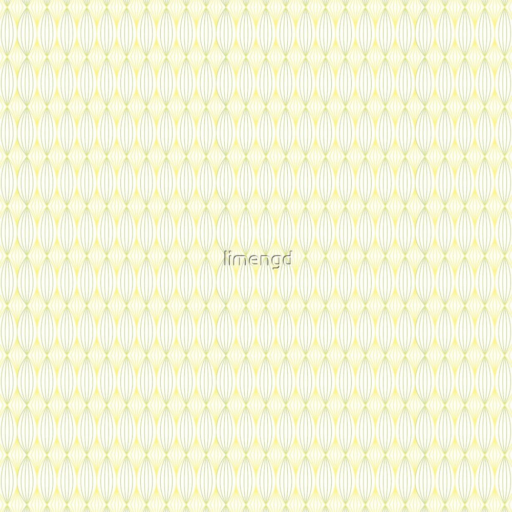 Yellow & Green Tangled Lines Pattern by limengd