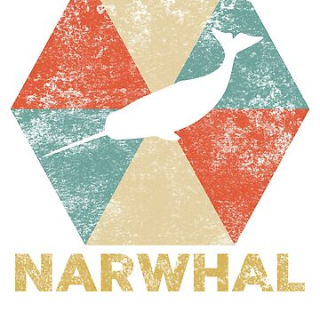 Vintage Polygon Narwhal by Distrill