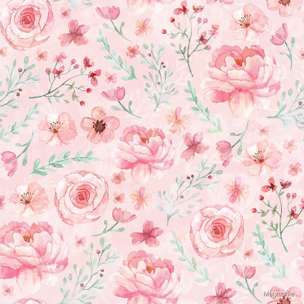 Pink Sweety Rose and Peony by Maymoriie .