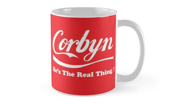 Corbyn He's the Real Thing mug by MazzaLuzza