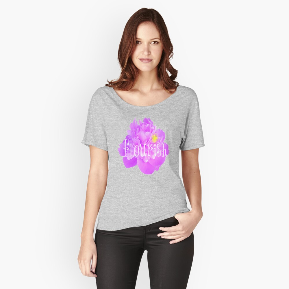 Time to FLOURISH by Nikki Ellina  Women's Relaxed Fit T-Shirt Front