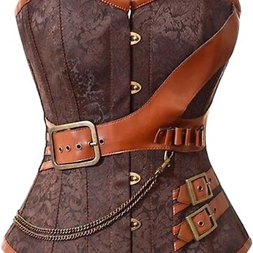 Brown Leather Corset by Shelbionic