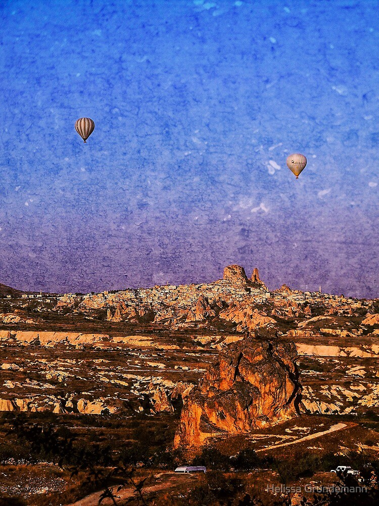 Two hot air balloons by Helissa Grundemann