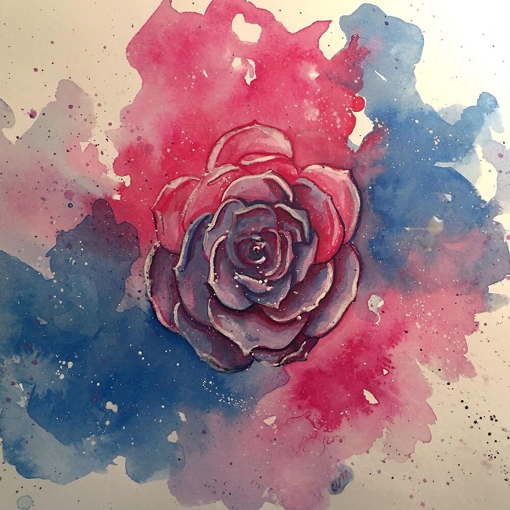Bi Pride Rose by LilyCateE