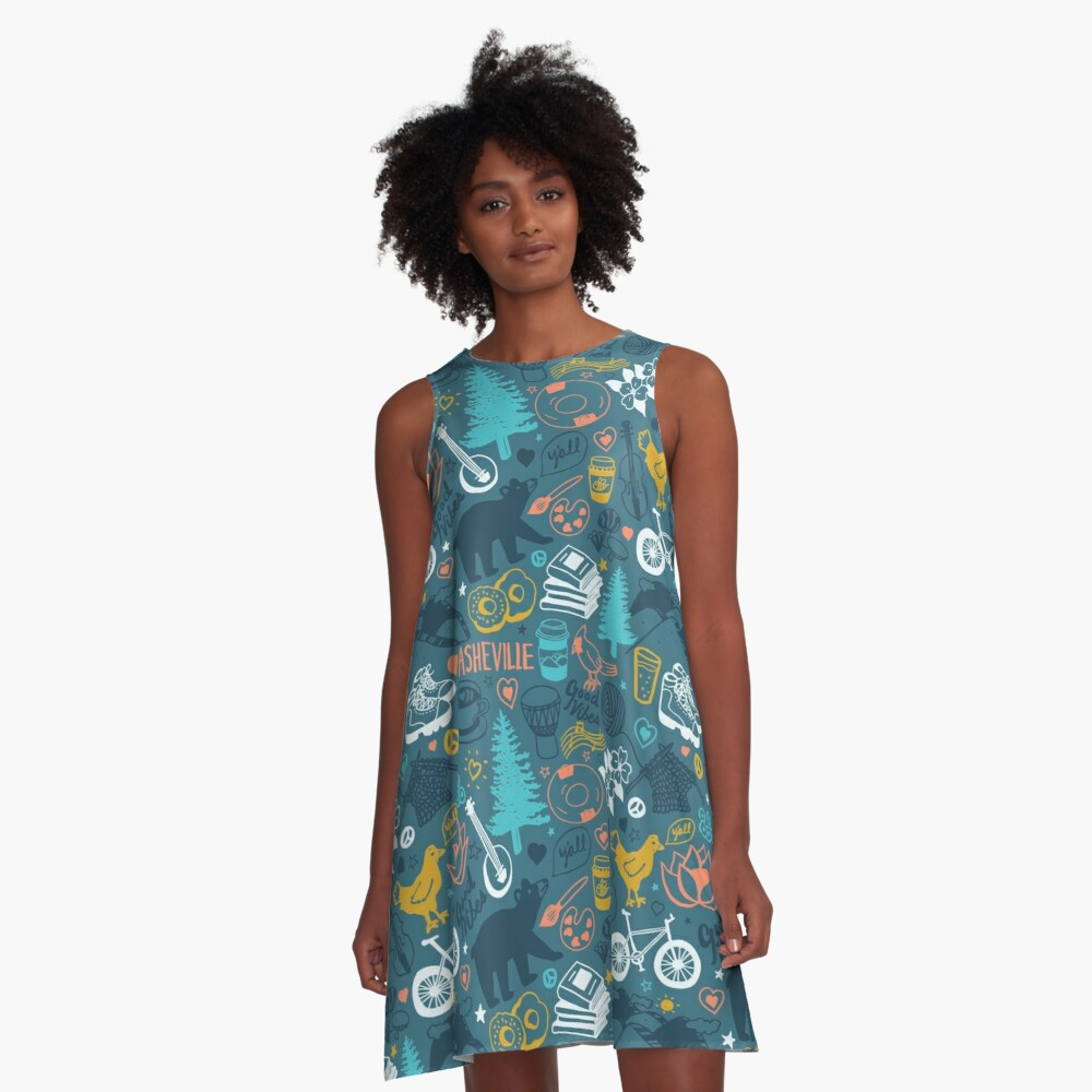The Life in Asheville A-Line Dress