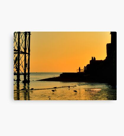 Sunset Silhouette - Brighton - England Canvas Print