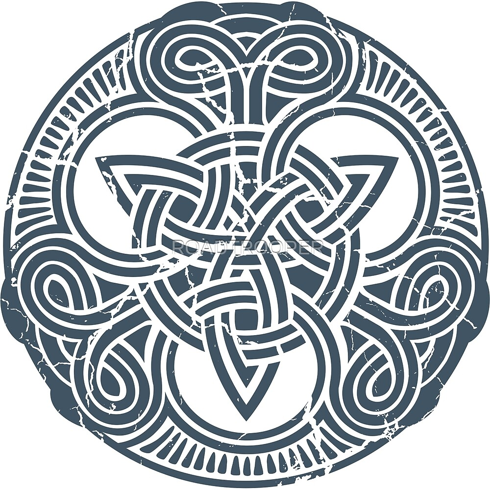 Celtic Triskele Design 2 - Celt Blue by ROADTROOPER