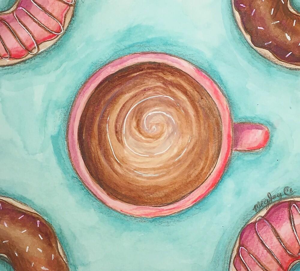 Coffee & Doughnuts by Meghan C