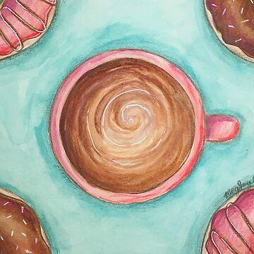 Coffee & Doughnuts by ArtsyMeg