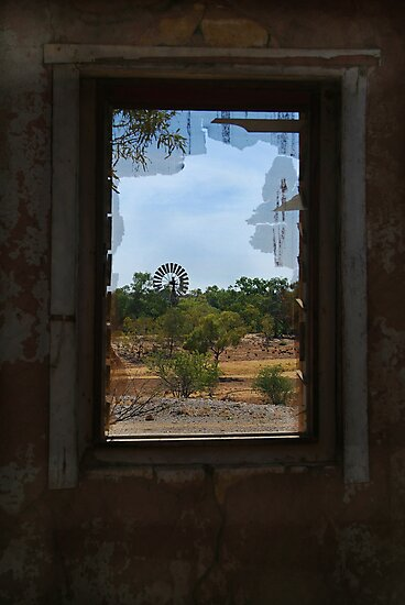 Ruin,Old Cork Station, Outback Queensland by Joe Mortelliti