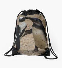 Picky Penguins! Drawstring Bag