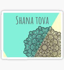 Shana tova Jewish new year stickers Sticker
