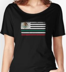 America Mexico Flag Women's Relaxed Fit T-Shirt