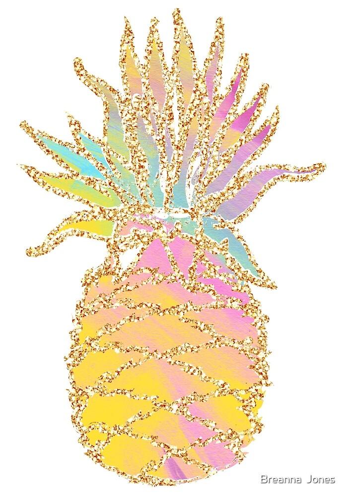 Glitter Pineapple by Breanna  Jones