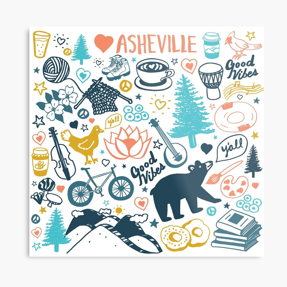The Life in Asheville Metal Print