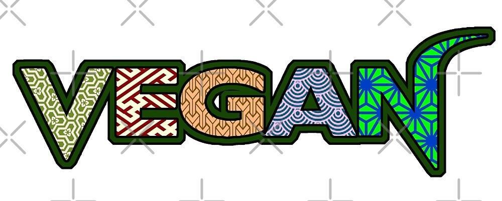 Geometric, sayagata, asanoha, vegan by veganstickers