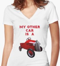 My Other Car Is A...... Women's Fitted V-Neck T-Shirt