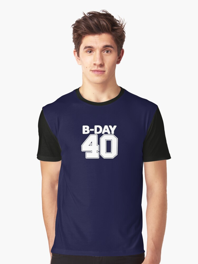 40th Birthday number 40 b-day party gift idea Graphic T-Shirt Front
