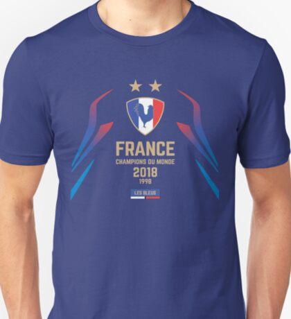 France Champion Du Monde 2018 • Les Bleus • Football World Cup Champion 2018 ID 1-2 T-Shirt