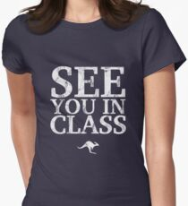 See You In Class (White) Women's Fitted T-Shirt