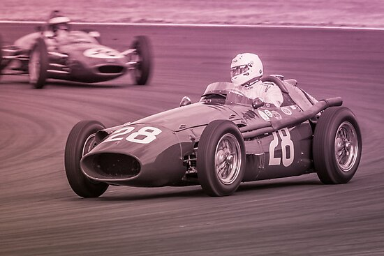 1956 Maserati 250F Monochrome by Willie Jackson