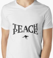 Teach Peace (Black) Men's V-Neck T-Shirt