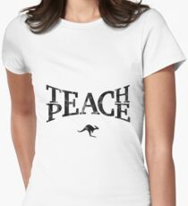 Teach Peace (Black) Women's Fitted T-Shirt