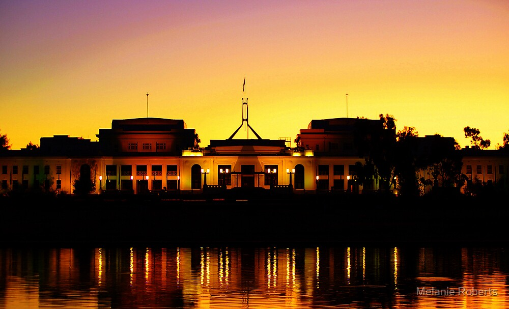 Dusk over Parliament by Melanie Roberts