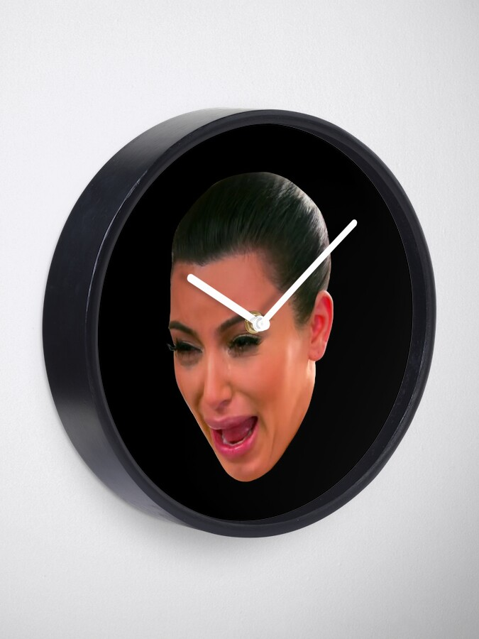 Alternate view of Crying Kim Kardashian Clock
