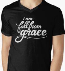 iamfallfromgrace - Text - White V-Neck T-Shirt