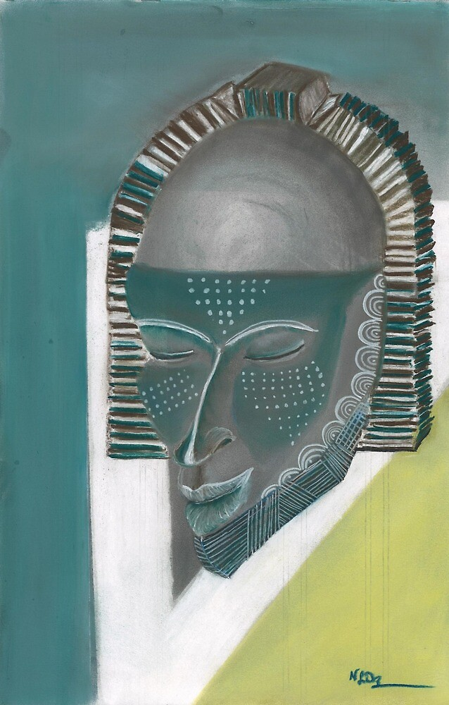 African Mask African Artwork by nehemiahdixon3