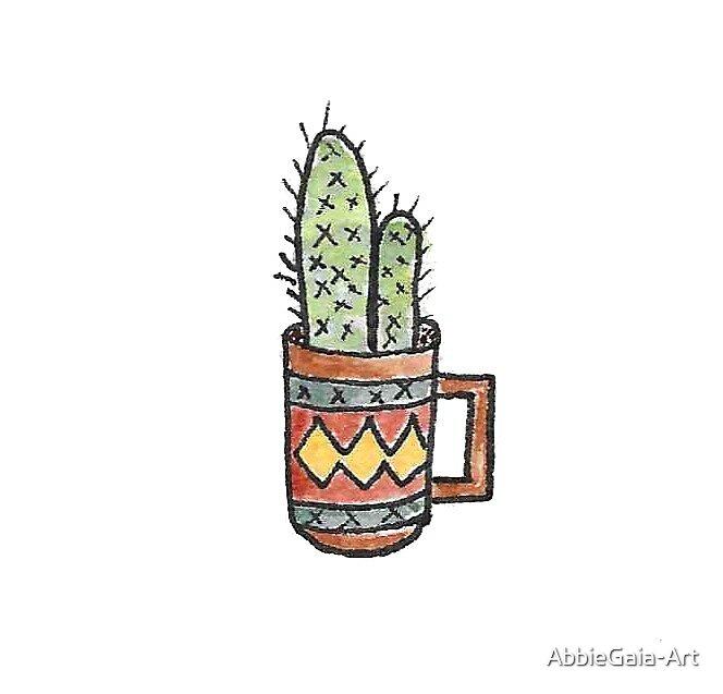 Cactus In A Mug  by AbbieGaia-Art