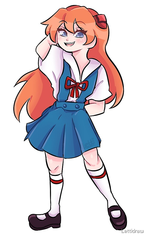 Asuka sticker by Lettidraw