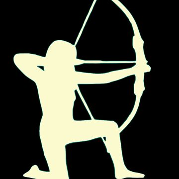 Female Archer in Silhouette by Corazonne