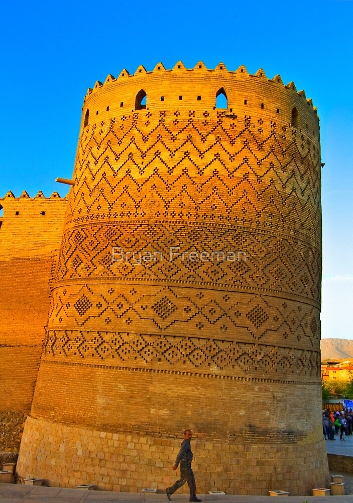 The Leaning Tower of The Arg of Karim Khan - Shiraz - Iran by Bryan Freeman
