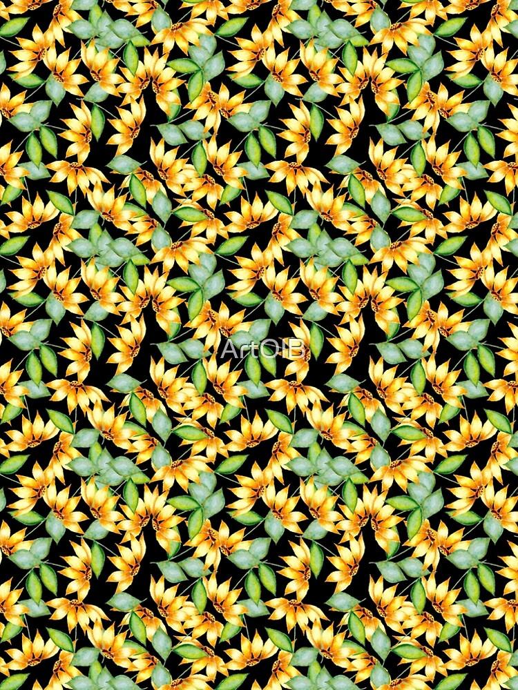 Sunflowers in boho style  by ArtOlB
