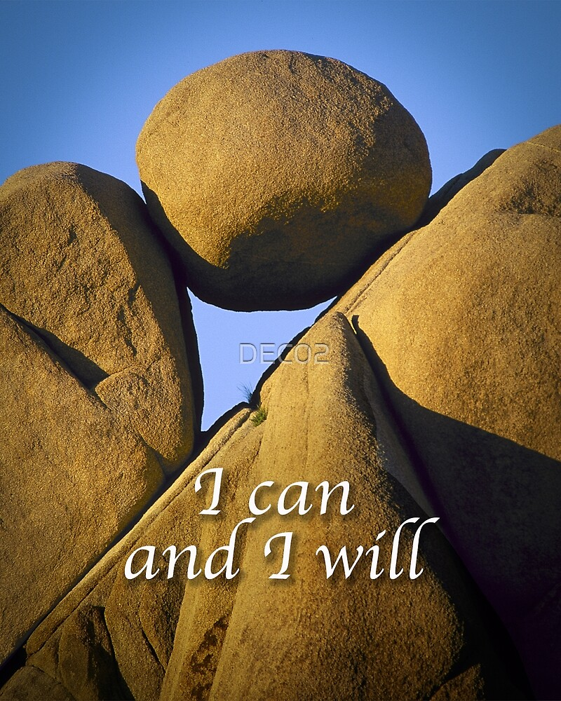 I can and I will by DEC02