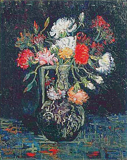 Vase with White and Red Carnations Vincent van Gogh Fine Art by GhostofVincent