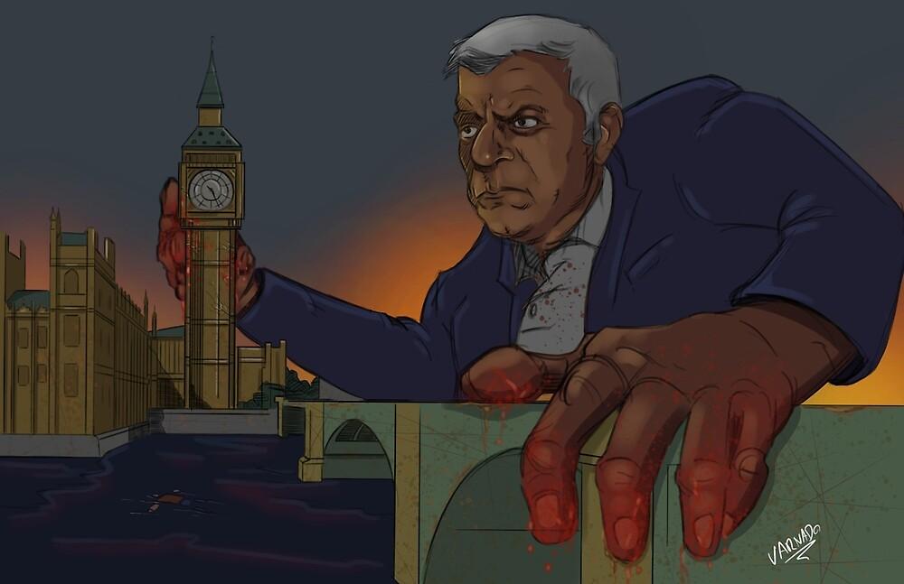 Sadiq khan bloody hands by VDOIllustration