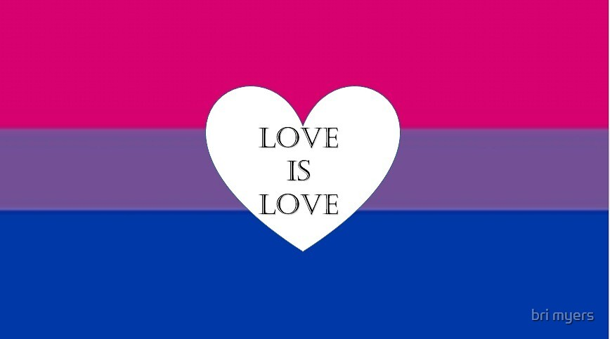 Bi Pride Love is Love by Brianna Myers