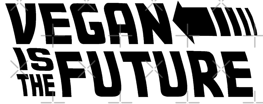 Back to the future inspired - vegan is the future  by veganstickers