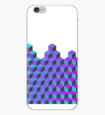 Abstract Neon Cubes iPhone Case