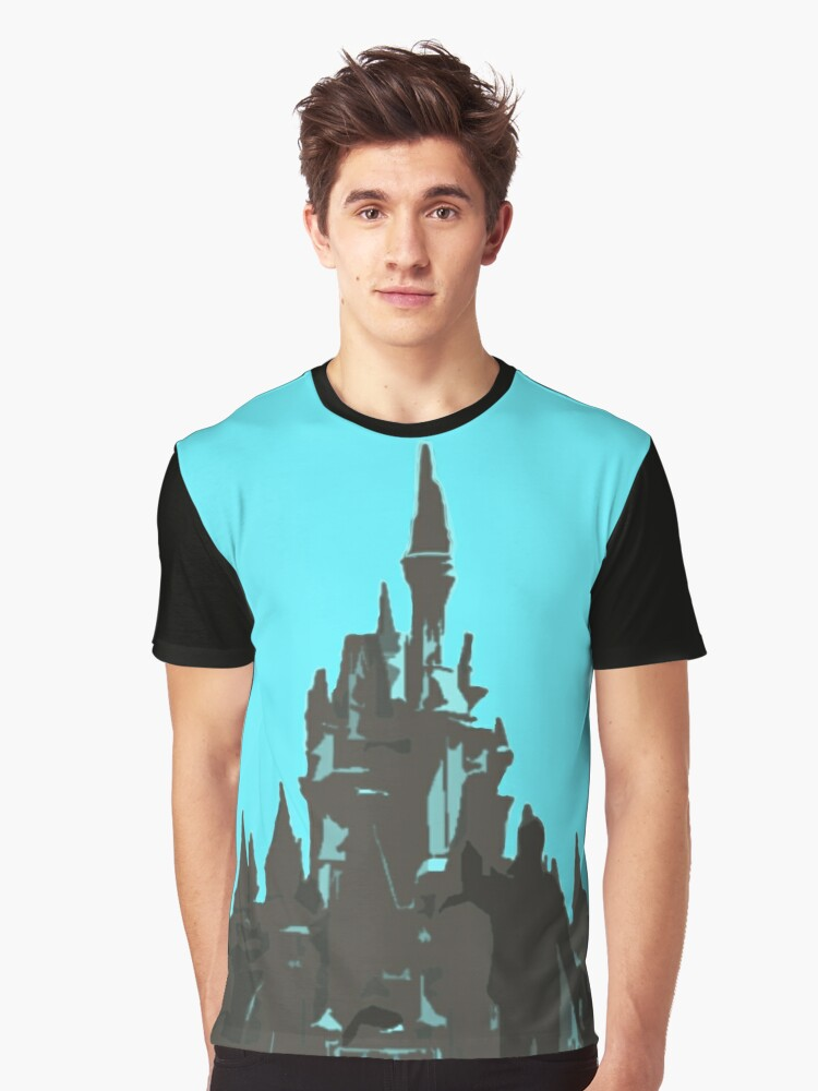 The Castle Silhouette  Graphic T-Shirt Front