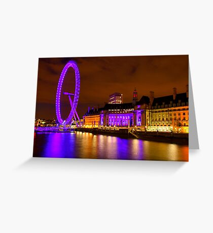 The London Eye & Aquarium at Night Greeting Card