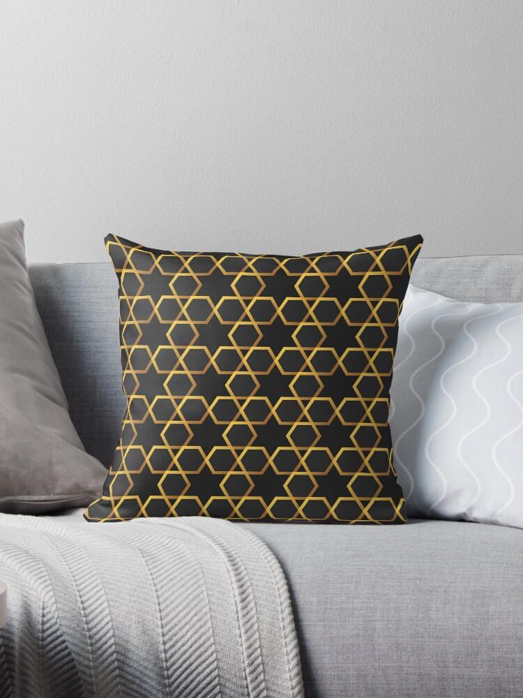 Abstract hexagonal background Luxury golden geometric seamless pattern Art Deco by Darcraft28