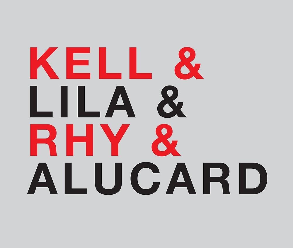 Kell Lila Rhy Alucard Shades of Magic Helvetica List by Sydney Koffler