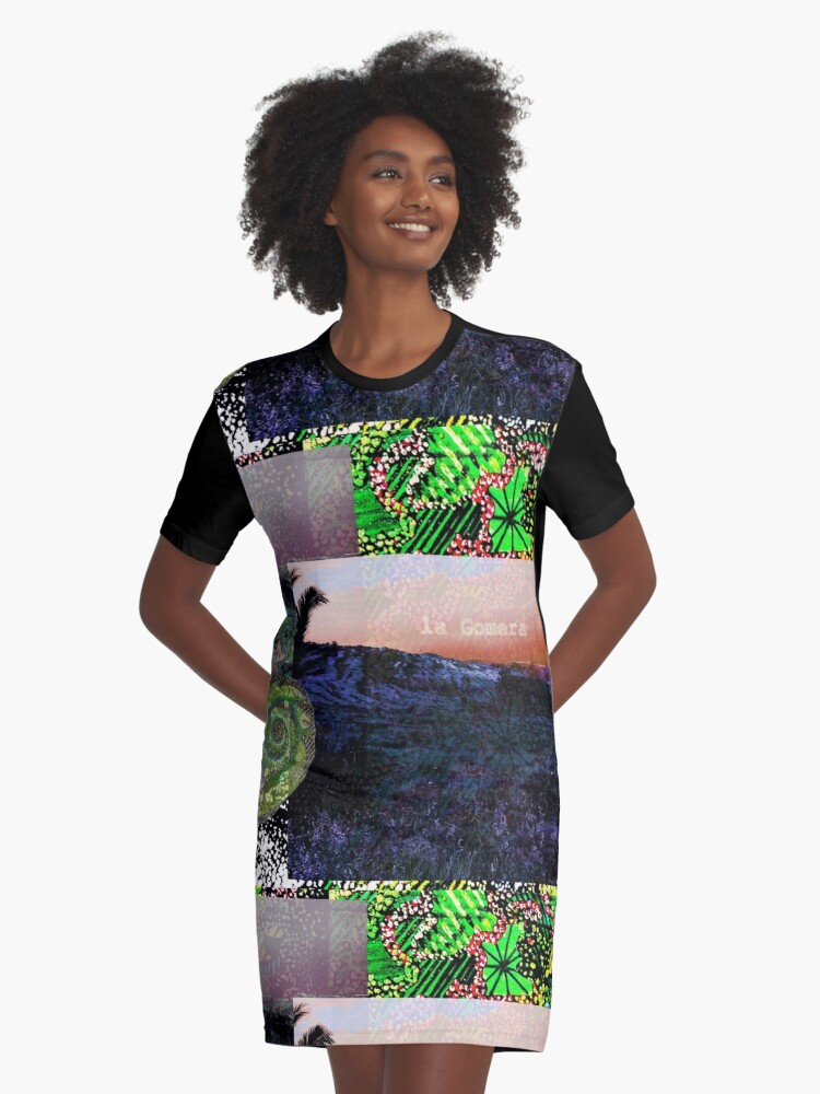 laGomera freshly colored Graphic T-Shirt Dress Front
