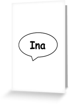 Balloon Name Ina by PM-Names