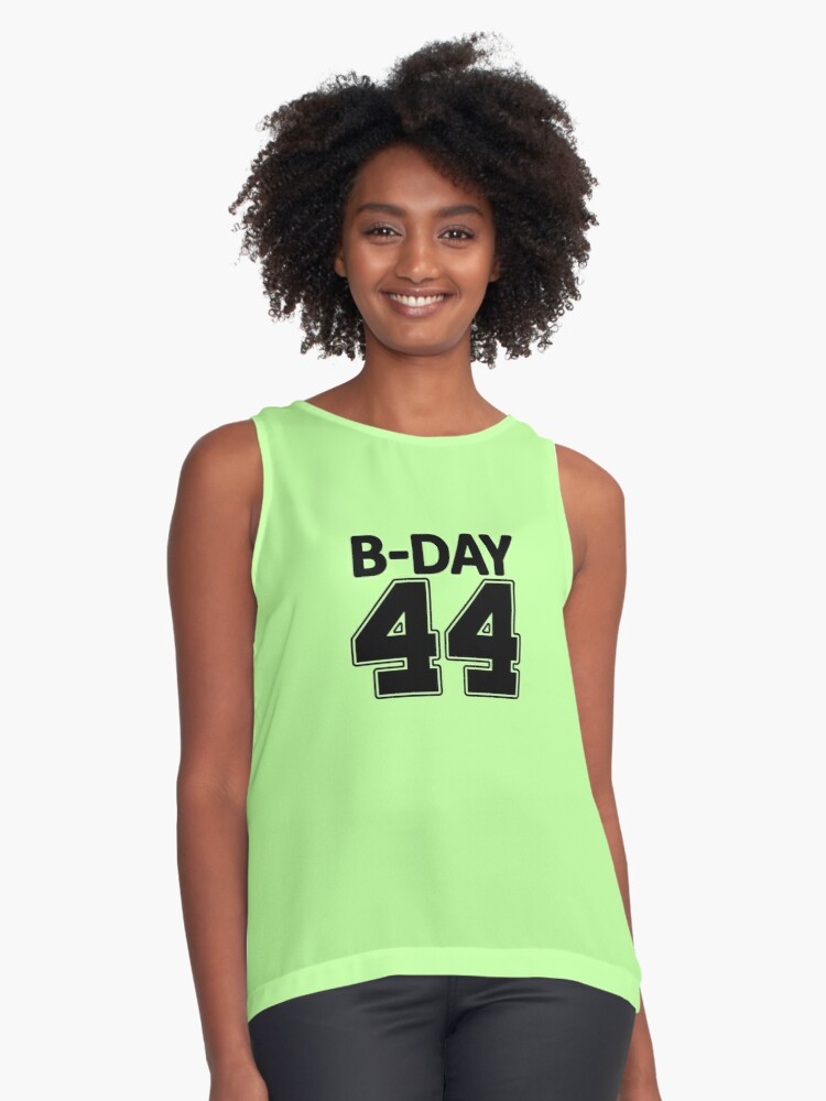 44th Birthday number 44 b-day party gift idea Contrast Tank Front