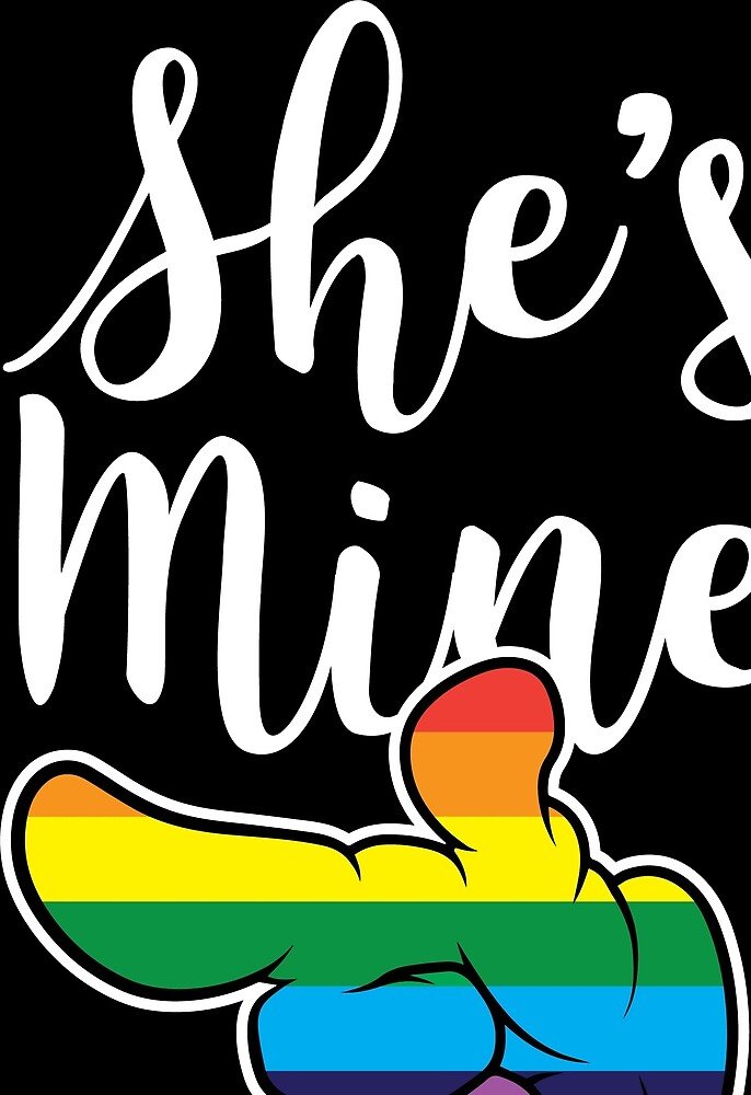 Matching Lesbian Couple She's Mine Part1 by haselshirt
